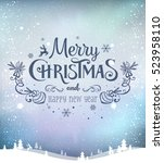 merry christmas and new year... | Shutterstock .eps vector #523958110