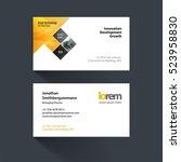 vector business card template... | Shutterstock .eps vector #523958830