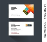 vector business card template... | Shutterstock .eps vector #523958914