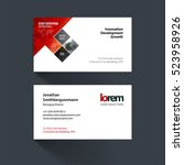 vector business card template... | Shutterstock .eps vector #523958926
