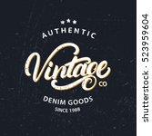 vintage hand written lettering... | Shutterstock .eps vector #523959604