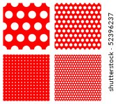 polka dot patterns --- contains global color and can be easily edited - stock vector