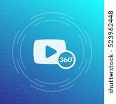 360 degrees video icon  symbol | Shutterstock .eps vector #523962448