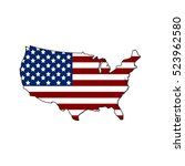 map of united states of america ... | Shutterstock .eps vector #523962580