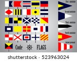 complete set of nautical flags... | Shutterstock .eps vector #523963024