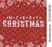 merry christmas vintage... | Shutterstock .eps vector #523963828