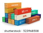 shipping  logistics and freight ... | Shutterstock . vector #523968508
