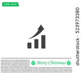 vector growing graph icon | Shutterstock .eps vector #523973380