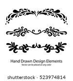 abstract vector elements  set... | Shutterstock .eps vector #523974814