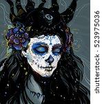 muerte blue   Shutterstock . vector #523975036