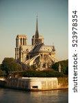 Paris River Seine With Notre...