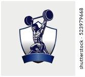 strong bodybuilder sportsman... | Shutterstock .eps vector #523979668