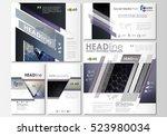 social media posts set....   Shutterstock .eps vector #523980034