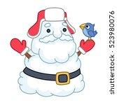 santa claus snowman  vector... | Shutterstock .eps vector #523980076