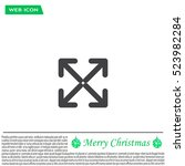 extend  re size  enlarge.... | Shutterstock .eps vector #523982284
