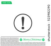 exclamation mark. exclamation... | Shutterstock .eps vector #523982290