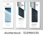 roll up banner stands  abstract ... | Shutterstock .eps vector #523984150