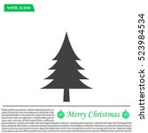 christmas tree icon | Shutterstock .eps vector #523984534