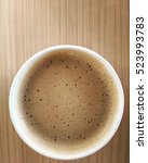 hot coffee | Shutterstock . vector #523993783