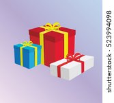 gift boxes presents | Shutterstock .eps vector #523994098