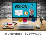vision  increase quality values ... | Shutterstock . vector #523994170