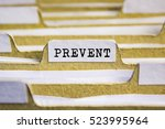Small photo of Prevent word on card index paper
