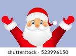 santa claus on a white... | Shutterstock .eps vector #523996150