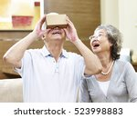 senior asian couple... | Shutterstock . vector #523998883