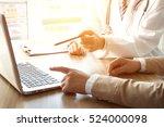 doctor and patient   Shutterstock . vector #524000098