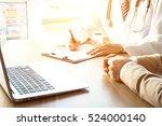 doctor and patient   Shutterstock . vector #524000140
