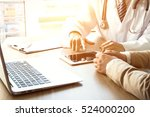 doctor and patient | Shutterstock . vector #524000200