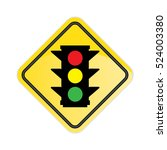 traffic light sign on white... | Shutterstock .eps vector #524003380