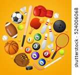 sport lover   sport equipment... | Shutterstock .eps vector #524006068