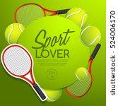 sport lover   sport equipment... | Shutterstock .eps vector #524006170