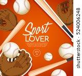 sport lover   sport equipment... | Shutterstock .eps vector #524006248
