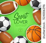 sport lover   sport equipment... | Shutterstock .eps vector #524006296