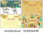 hand drawn cards .merry... | Shutterstock .eps vector #524006698