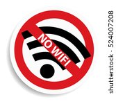 no wifi sign on white... | Shutterstock . vector #524007208
