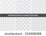 white decorative seamless 3d...