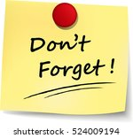 illustration of dont forget... | Shutterstock .eps vector #524009194