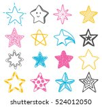 hand drawn star doodle element | Shutterstock . vector #524012050