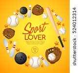 sport lover   sport equipment... | Shutterstock .eps vector #524012314