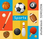 sport lover   sport equipment... | Shutterstock .eps vector #524012536