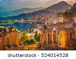 The Ruins Of Taormina Theater...