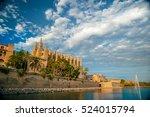cathedral of palma de mallorca. ... | Shutterstock . vector #524015794