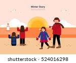 winter story | Shutterstock .eps vector #524016298