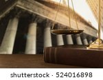 scales of justice on law books... | Shutterstock . vector #524016898