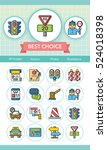 icon set traffic vector | Shutterstock .eps vector #524018398