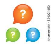 question mark marker icon | Shutterstock .eps vector #524024650