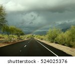 sonoran desert rainbow | Shutterstock . vector #524025376